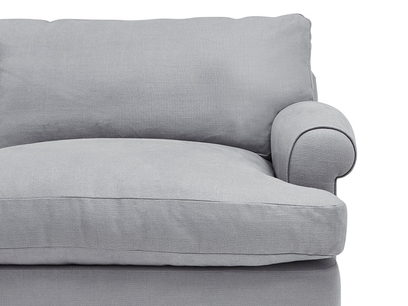 Slowcoach upholstered sofa bed front detail