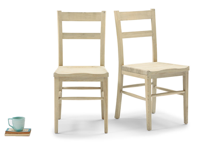 Idler wooden dining chairs in Natural