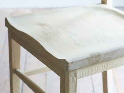 Idler natural wood dining chair