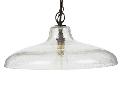 Puddle large glass pendant lamp