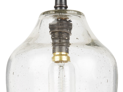 Cowbell glass industrial wall light