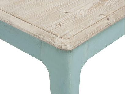 Tucker wooden kitchen table corner detail