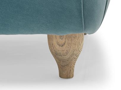 Bronte chaise longue leg detail
