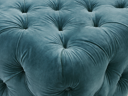 Ooop a Lazy buttoned upholstered footstool