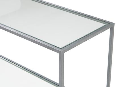 Little Wolfie glass and metal shelf top detail