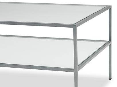 Wolfie glass coffee table leg detail