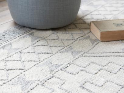 Sketch patterned rug detail