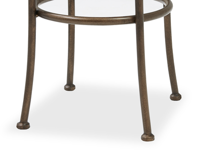 Breakfast bar stool leg detail