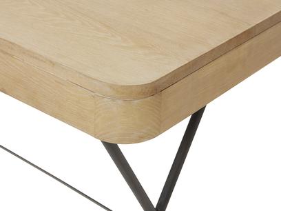 Jotter slim line wooden desk corner