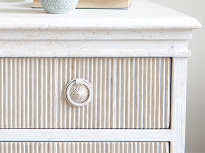Tilda reclaimed ribbed pine drawers bedroom dresser