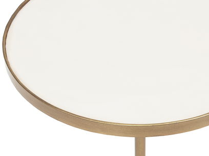 Vino small round side table top detail