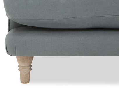 Slowcoach Chaise Sofa front leg detail