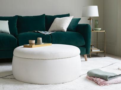 Pot Pie round storage footstool ottoman