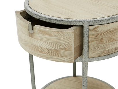 Little Tim Round Side Table Drawer