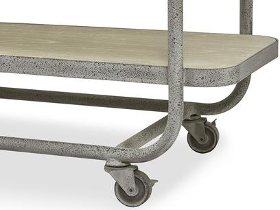 Busboy Industrial Style trolley shelves wheels detail