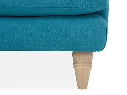 Cinema Deep Upholstered Low Arm Sofa Bottom Corner