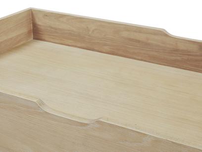 Dinkum in Washed Oak Trundle Under Bed Drawer Inside Drawer Detail