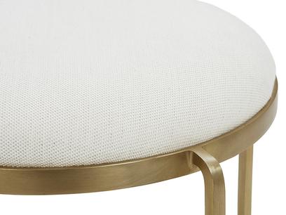 Footlight Dressing Table Stool Upholstered Seat