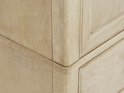 Valentine French Style Solid Oak Wardrobe