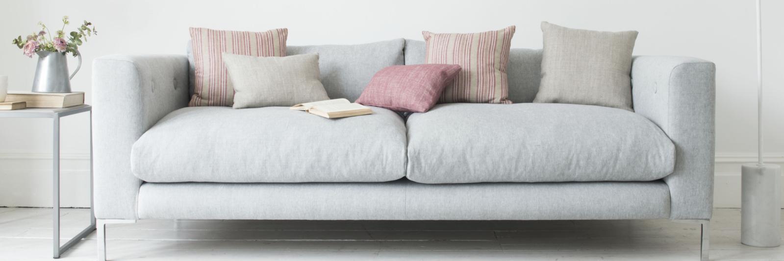 Rockstar sofa in Pebble vintage linen