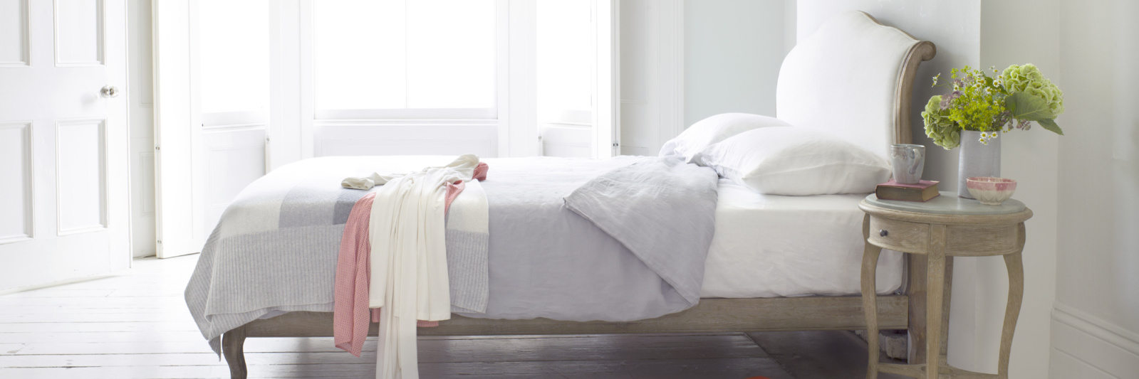 Coco - single French bed handmade from weathered oak