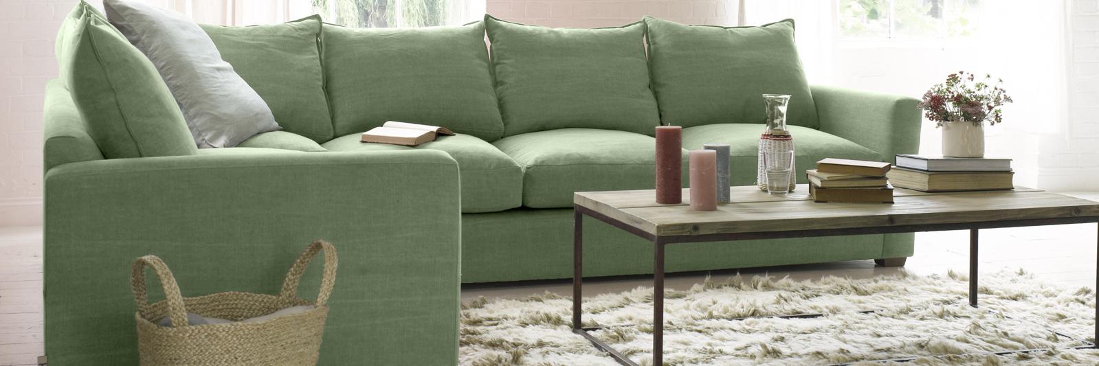 British made contemporary corner chaise sofa