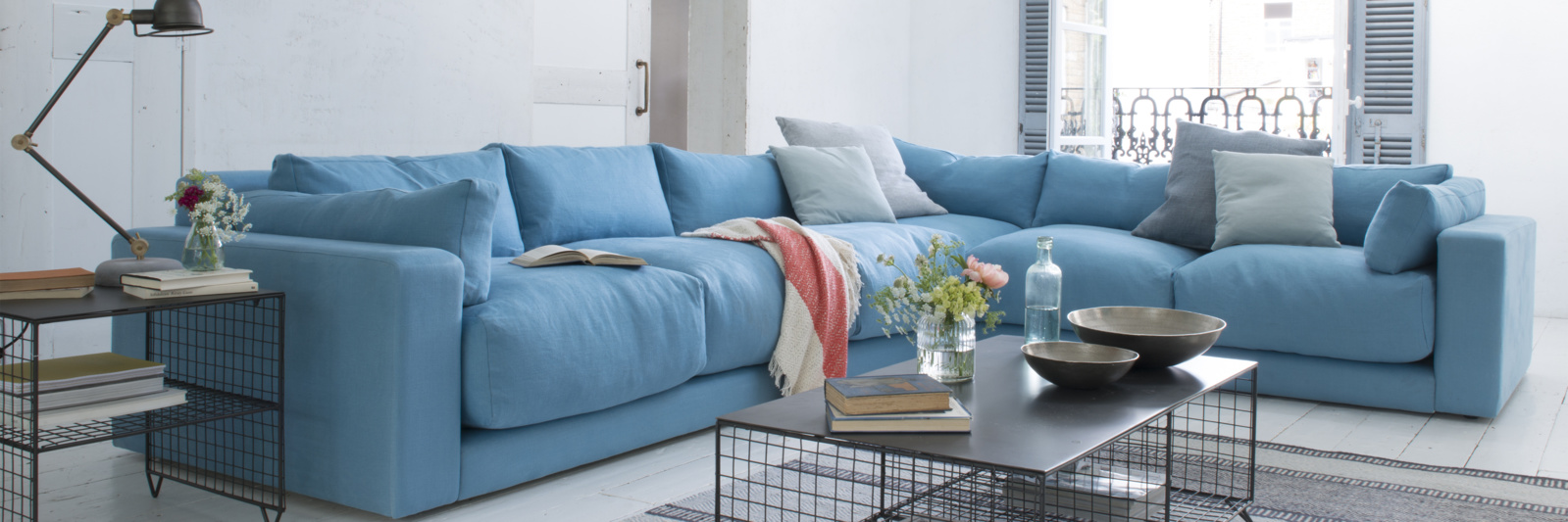 Beautiful contemporary atticus L shape corner sofa