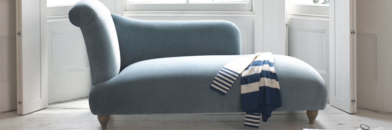 Bronte British made beautiful contemporary chaise longue sofa