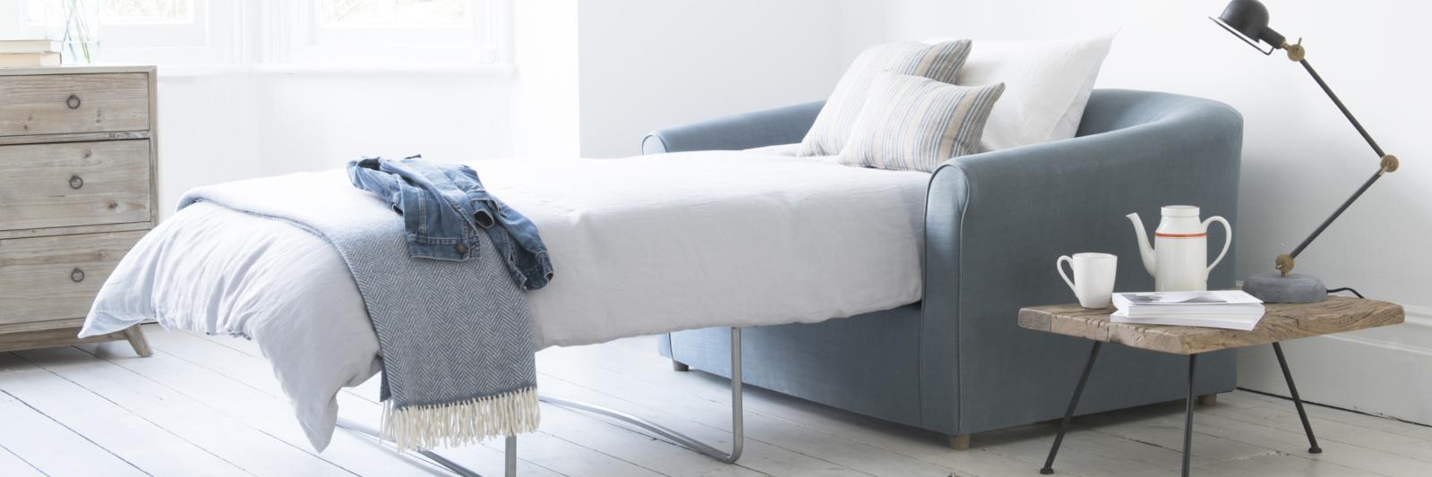 British made contemporary cutie pie double sofa bed