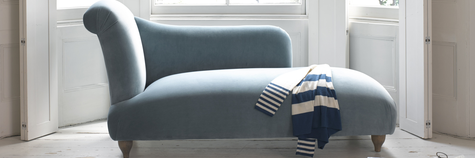 Luxury British made bronte contemporary chaise longue