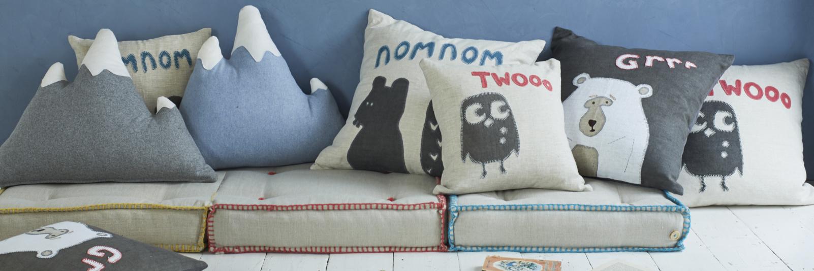 Children's cool cushions and soft furnishings