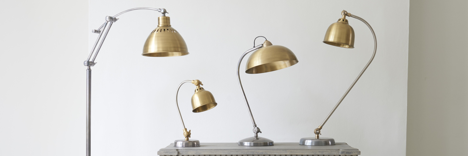 Brass Gaston lamp range