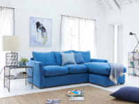 Contemporary Pavilion Chaise corner sofa is extra comfy and British made