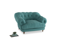 Bagsie Love Seat in Peacock brushed cotton