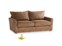 Medium Pavilion Sofa in Walnut Beaten Leather