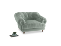 Bagsie Love Seat in Mint clever velvet