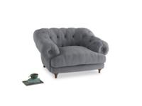 Bagsie Love Seat in Dove grey wool
