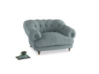 Bagsie Love Seat in Smoke blue brushed cotton