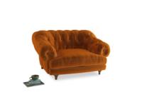 Bagsie Love Seat in Spiced Orange clever velvet