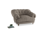 Bagsie Love Seat in Driftwood brushed cotton