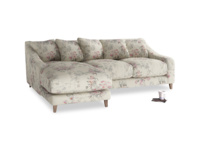 Large left hand Oscar Chaise Sofa in Pink vintage rose