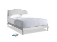 Kingsize Coco Bed in Scuffed Grey in Mist cotton mix