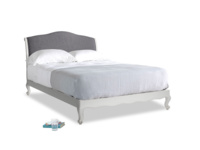 Kingsize Coco Bed in Scuffed Grey in Lead cotton mix