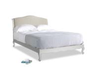 Kingsize Coco Bed in Scuffed Grey in Birch wool