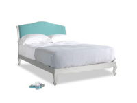 Kingsize Coco Bed in Scuffed Grey in Peacock brushed cotton