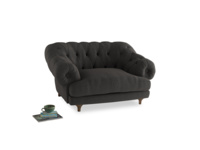 Bagsie Love Seat in Old Charcoal brushed cotton