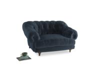 Bagsie Love Seat in Liquorice Blue clever velvet