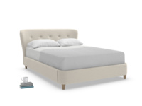 Handmade contemporary and retro Smoke upholstered bed