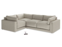 Luxury Contemporary Atticus large corner sofa made in Britain, extra deep and comfy