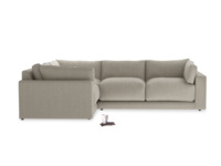 Luxury modern style Atticus contemporary corner sofa extra deep, handmade in Britain